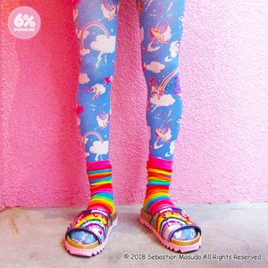 6%DOKIDOKI Welcome to 6% World Sky Blue Tights