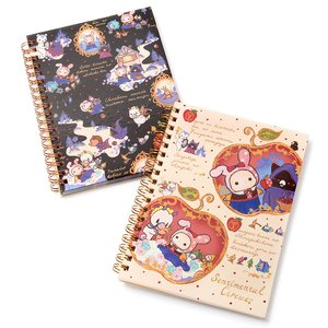 Stationery / Notebooks & Memo Pads / Sentimental Circus Snow White Patchwork Apples B6 Spiral Notebooks