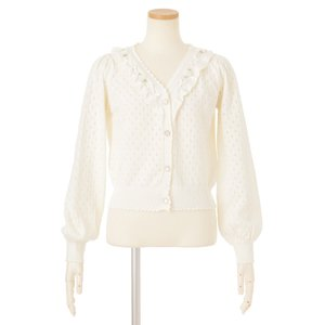 LIZ LISA V-Neck Perforated Cardigan