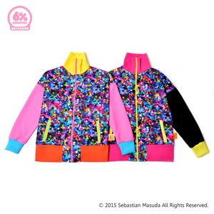 6%DOKIDOKI Colorful Rebellion Crash Boyfriend Track Jacket