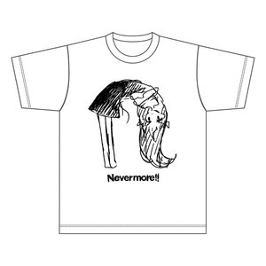 "Nevermore!! ""n"" White T-Shirt"