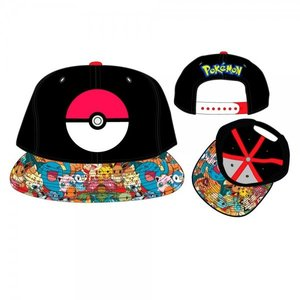 Poké Ball Sublimated Bill Snapback Baseball Cap | Pokémon [Pre-order]