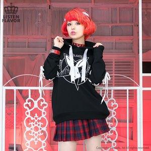J-Fashion / Cardigans & Hoodies / LISTEN FLAVOR Evil Cutie Pentagram Lace-up Hoodie