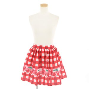 milklim Red Embroidered Cherry Skirt