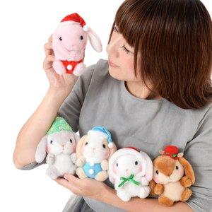 Pote Usa Loppy Merry Christmas Rabbit Plush Collection (Ball Chain)