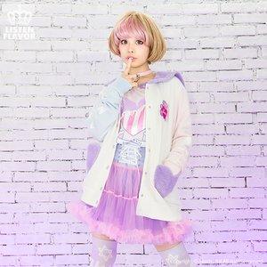 J-Fashion / Cardigans & Hoodies / LISTEN FLAVOR Angel Heart Bear Moko Moko Blouson