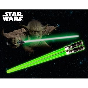 Home & Kitchen / Chopsticks & Cutlery / Star Wars Yoda Chopsticks Non-Light Up Ver. (Renewal)
