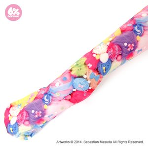 J-Fashion / Socks & Tights / 6%DOKIDOKI Colorful Rebellion Pastel Patterned Tights