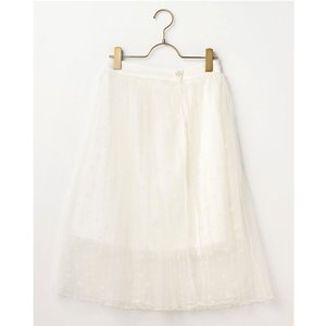 LIZ LISA Pleated Dot Tulle Skirt