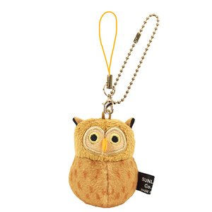 Toys & Knick-Knacks / Collectable Toys / Plushies / Plushie Sets / Irotoridori Horned Owl Keychain Strap