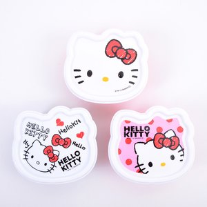 Home & Kitchen / Bento Containers / Hello Kitty Face 3-Pack Container Set