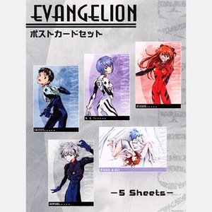 Rebuild of Evangelion Pilots Postcard Set