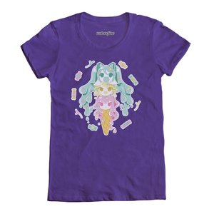 Otaku Apparel & Cosplay / Special Creator T-Shirts / Miku-Rin-Luka Ice Cream T-Shirt