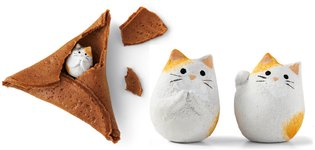 JAPAN / Step aside, fortune cookies! Here come fortune cat rice crackers from Japan!