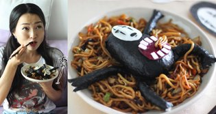"""Supercute cooking"" expert Yuki teaches us how to make Spirited Away's ""No-Face"" yakisoba"