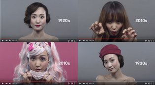 ART / 100 Years of Japanese Women's Hair and Makeup Trends in Less Than a Minute and a Half【Video】