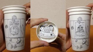 MANGA / Paper Cup Manga: Artist Creates Stunning 3-D Moving Images from the World of Doraemon【Video】