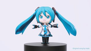 MUSIC / Virtual idol Hatsune Miku dances and sings, for real, with awesome new figure 【Video】