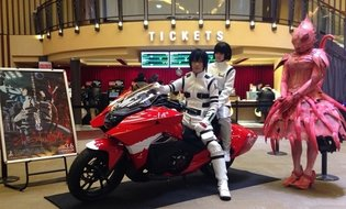 MOVIE / Honda NM4-02 Benisuzume Version from 'Knights of Sidonia the Movie' Appears at Shinjuku Wald 9