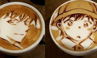 Detective Conan Latte Art with a Hilarious Twist!