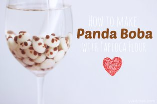 JAPAN / [Healthy Food for the Geeky Soul] Panda Tapioca Milk Tea with Panda Boba