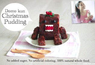 Yuki teaches us how to make our very own Domo-kun Christmas pudding!【Recipe】