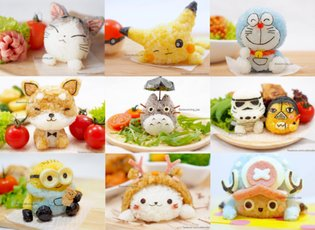 Step Outside the Cute Character Bento Box with This Amazing 3-D Onigiri Rice Ball Collection
