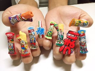 ART / Japanese Snacks as Nail Art?! Introducing Umaibo Nails!