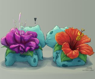 ART / Welcome Spring with These Blooming Bulbasaurs!