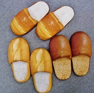 Slippan - Slippers that Look Just Like Bread