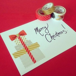 PRODUCT / 5 Beautiful Washi Tape Christmas Cards