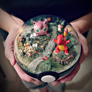 ART / Get Inspired By These Gorgeous Pokéball Terrariums