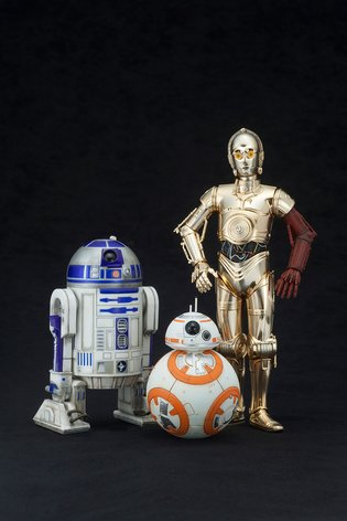 STAR WARS C-3PO & R2-D2 WITH BB-8 ARTFX+ STATUE