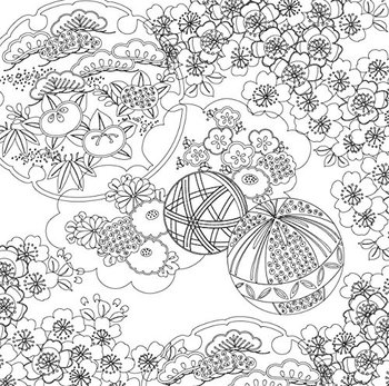 Relaxation Coloring Book Series Japanese Patterns 4