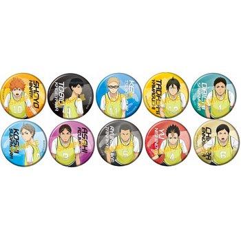d894a1af35 Karasuno High vs Shiratorizawa Academy Character Pin Badge Collection Box  Set 1