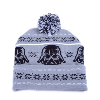 06a2b67a6c1 Star Wars Darth Vader Fair Isle Pom Beanie 1