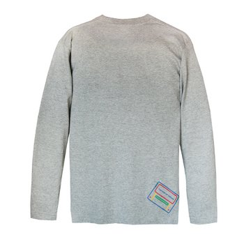 King of Games Super Famicom Gray Long Sleeve T-Shirt Gray w ...