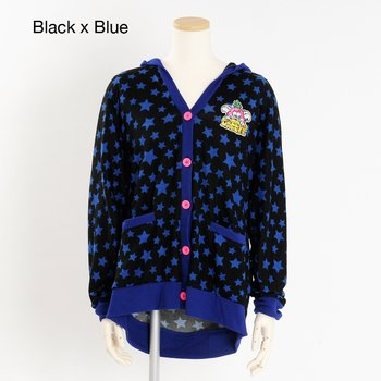 f6ca3dcee4f1 Listen Flavor Creepy Monster All-Over Star Pattern Dolman Hooded Cardigan 1