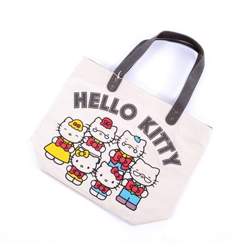 Hello Kitty 40th Anniversary Canvas/Faux Leather Tote