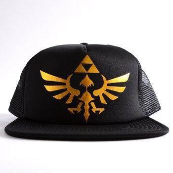 6236b4380 Nintendo Zelda Logo Foil Print Black Trucker Hat