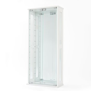 Colete Collection Display Cabinet W Glass Doors White Tokyo