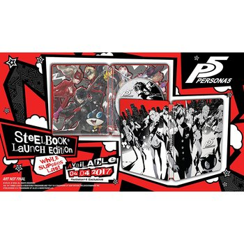 Persona 5 Ps4 Playstation Steelbook Launch Edition Case Only No Game Disc Original Game Cases & Boxes