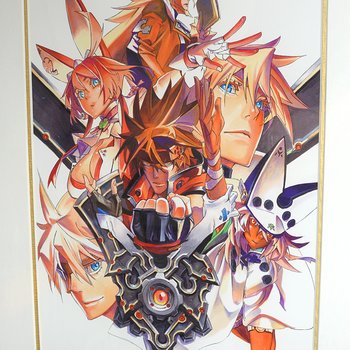 guilty gear xrd sign cs ver main visual framed reproduction art