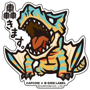 Capcom x b side label monster hunter stickers 2