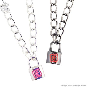steel necklaces collars lock with and stainless in chain heart necklace padlock eternity