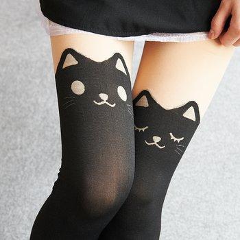 c4a87315b03 Animal Fake Thigh High Tights (Cat) 2