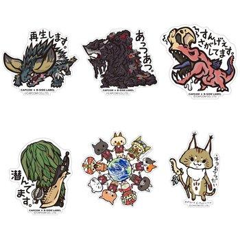 Capcom x b side label monster hunter world stickers