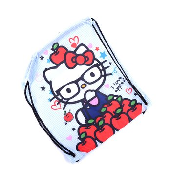 5205f72a24 Hello Kitty Nerd I Love Apples Cinch Backpack 2