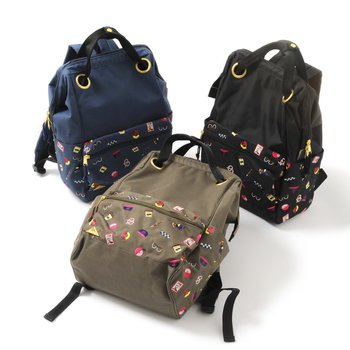 Chinese Ethnic Bag College Embroidered Backpack Money Tree
