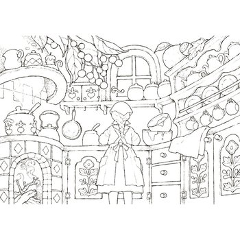 My Coloring Postcard Book Story Of The Forest Girl 9